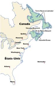 carte provinces atlantiques